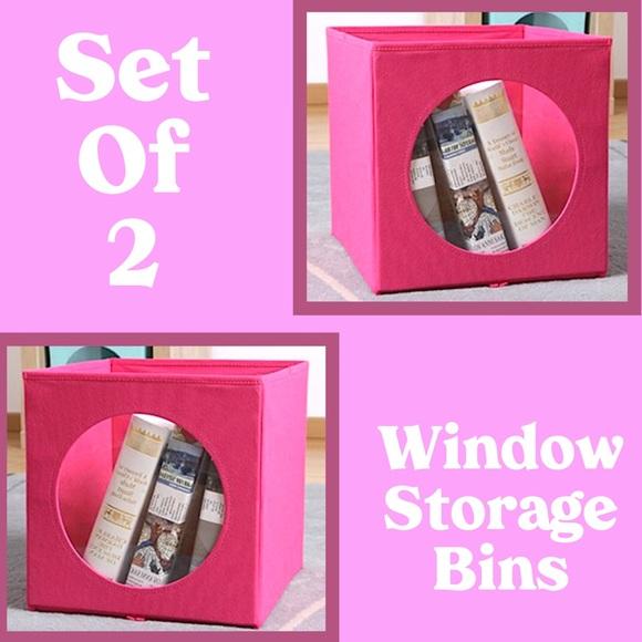 Mainstay Other - Collapsible Window Storage Bins Fuchsia Burst NWT